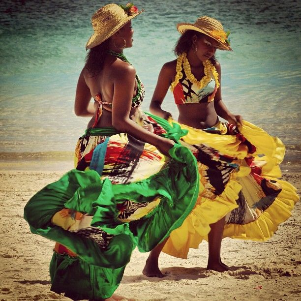"""""""Dancing on the beach, under the sun. Joy of life perhaps?"""" by nmastoras - Trou aux Biches Resort & Spa - Mauritius"""