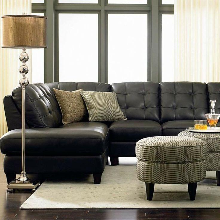 17 meilleures id es propos de canap s en cuir noir sur - Salon en cuir noir ...