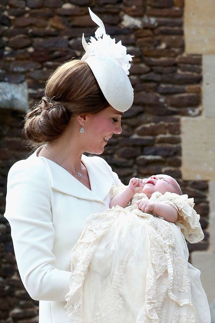 The royal family gathered at the Church of St. Mary Magdalene for Princess Charlotte's christening on Sunday.