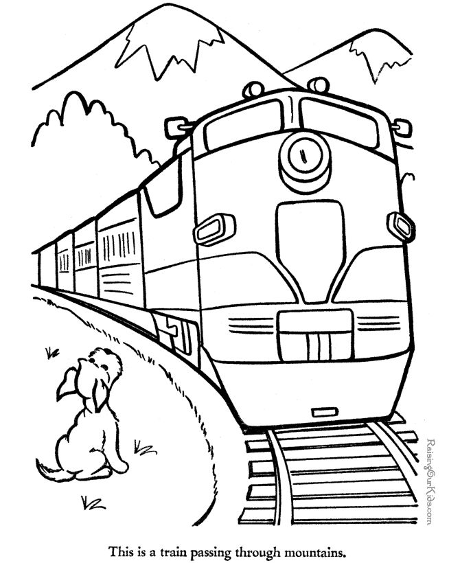 trains crossing the mountains coloring pages for kids printable trains coloring pages for kids
