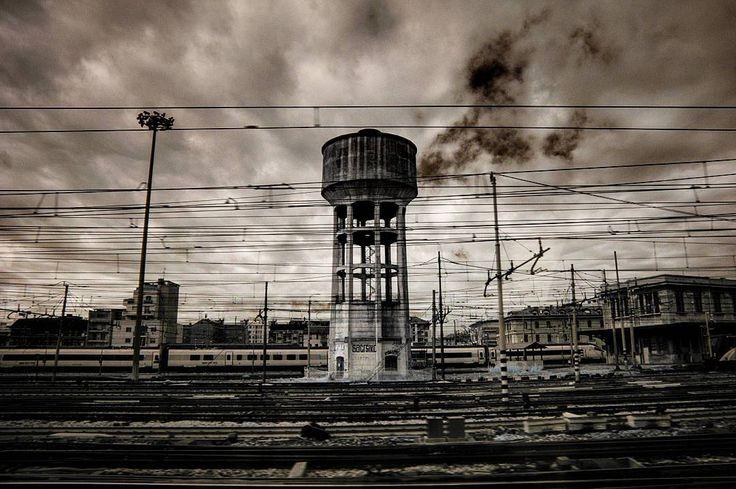 Milano #railway #bnw_captures #infrared