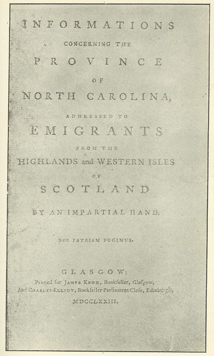 The Royal Colony of North Carolina - The Highland Scots Settlers