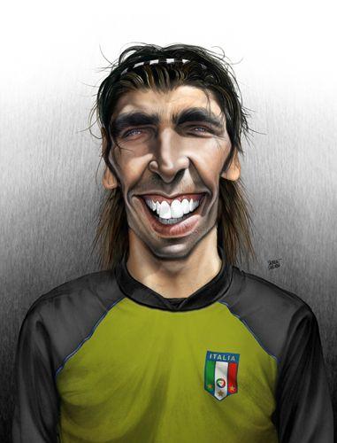 Caricaturas de los jugadores de futbol - Buffon