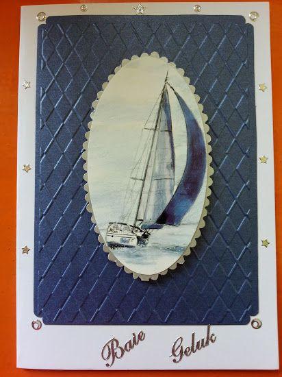 Blue male birthday card.