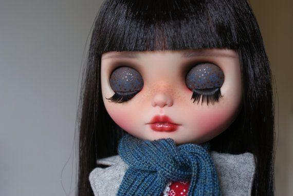 Holly zakázku OOAK blythe doll jedinečné umělecké panenky podle AlmondDoll