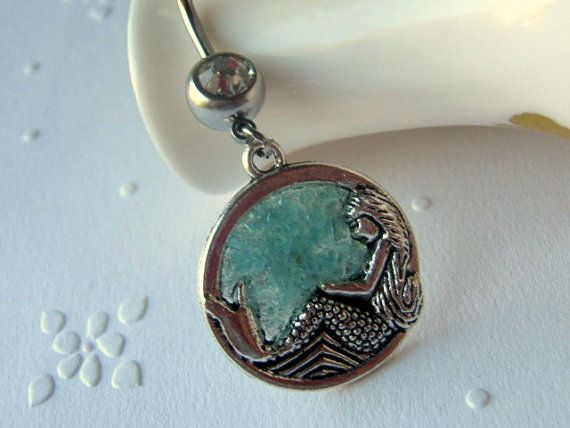 Mermaid Belly Button Ring Belly Button Jewelry Navel by AimeezArtz, $17.00