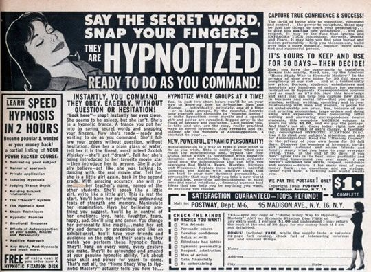 Image result for public domain images hypnosis
