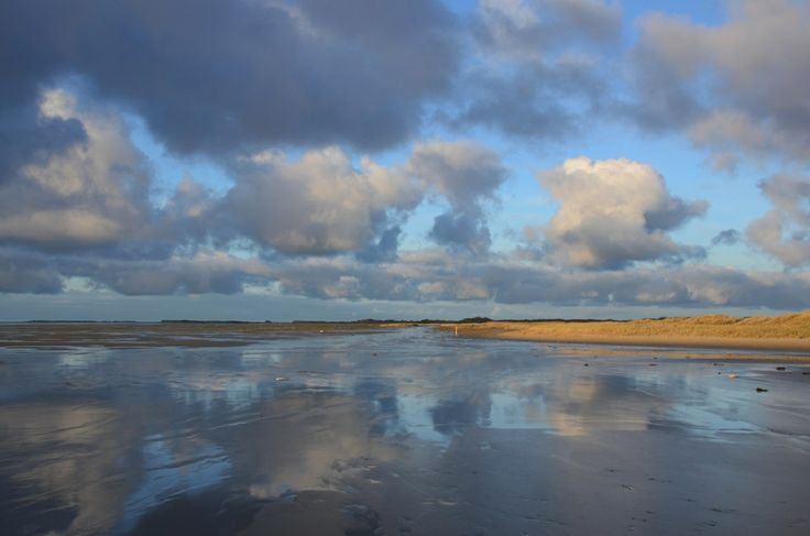 Mirror at the beach the 'Groene Strand' Terschelling 2014