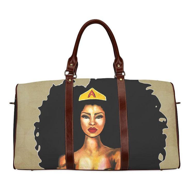 Afro Supa Woman Duffel Bag (ships 1-2 weeks)