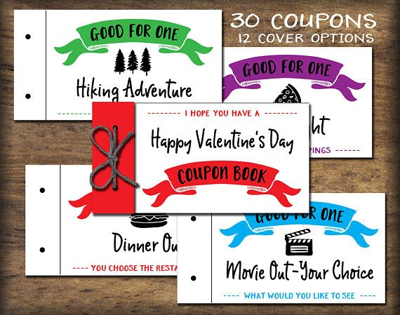 Kids Coupon Book. Printable gift idea. Instant download. DIY