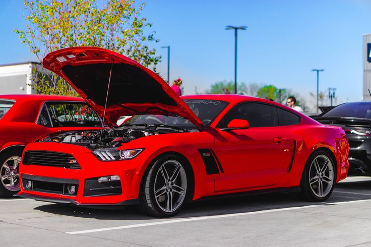 Stage 3 Roush S550 at Cars and Coffee the other day #Mustang #usedcar #car #cars