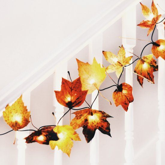 Bring an autumn glow into your home with these easy DIY leaf lights