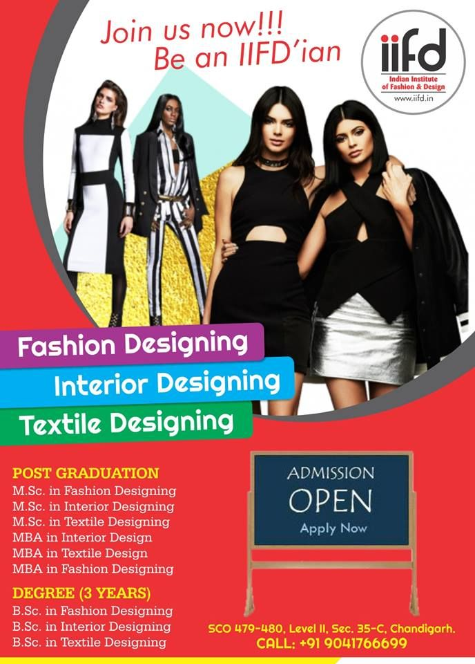Join us now!!! Be an IIFD'ian .  Best Fashion Designing Institute in India.  For Admission in IIFD, Contact @ 9041766699 Fill online application form http://indianfashioninstitute.com/best-fashion-designing-courses-in-chandigarh/ http://indianfashioninstitute.com/interior-design-courses/ http://indianfashioninstitute.com/textile-design-courses/