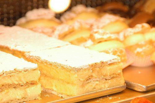 pasta crema carsolina or custard puff pastry from Carso
