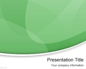 Green Modern PowerPoint Template is a free green PowerPoint template with curves and lighting effects that you can download and use in modern presentations