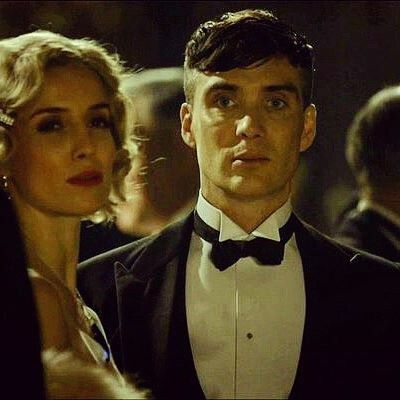 I love the persona of a man who takes care of business.  Grace & Tommy | Peaky Blinders