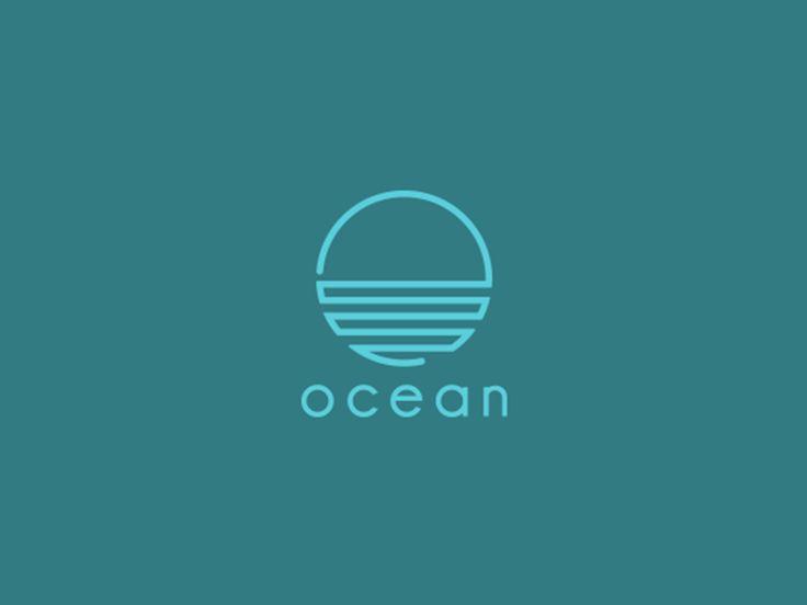 Ocean logo concept. Tried to do something minimal