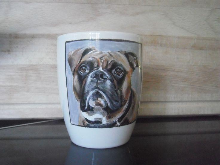 hand painted customized dog portrait
