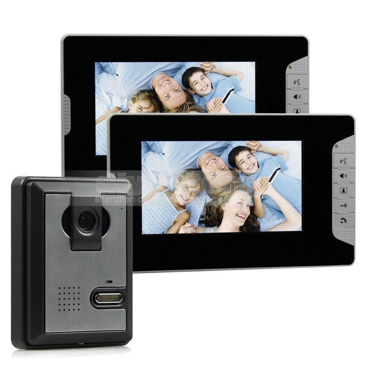 139.88$  Buy now - http://ali6v7.worldwells.pw/go.php?t=32431234205 - DIYSECUR 7inch Color Video Door Phone Intercom Home Security System 1 Outdoor Camera 2 Monitors for Villa, Office, Private House 139.88$