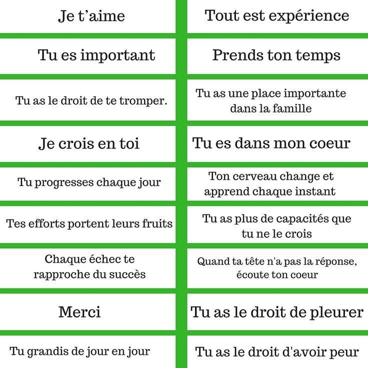 RITUEL : LES MESSAGES POSITIFS (+PDF À IMPRIMER)  (pin by ChansLau)