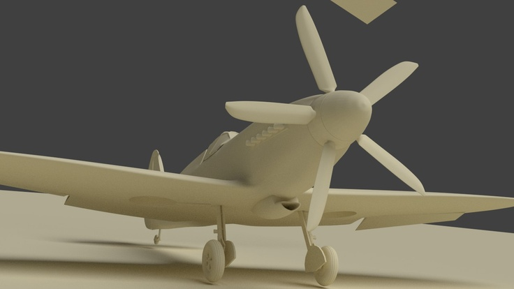The new five-blad propeller. I found a good image of the blade from the front and another from almost 90 degrees and this enabled me to do the blade properly.