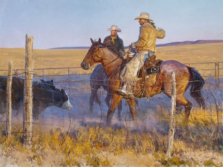 """Shipping Day"" Western Art by Cowboy Artists of America's Loren Entz"
