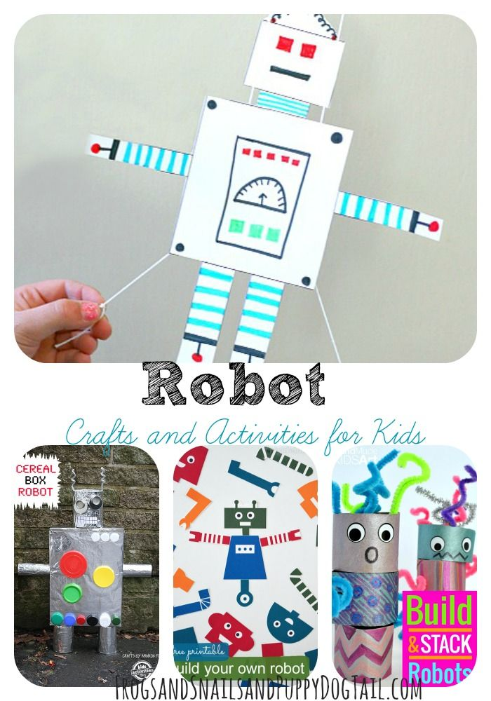 Robot Crafts and Activities for Kids - FSPDT