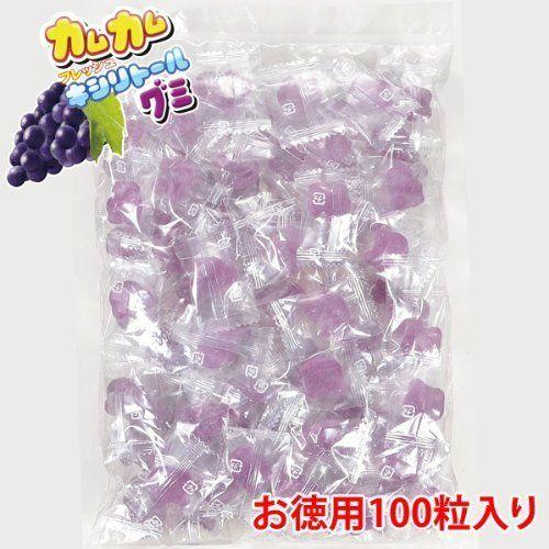 2430カムカム フレッシュキシリトールグミ グレープ味 お徳用100粒入