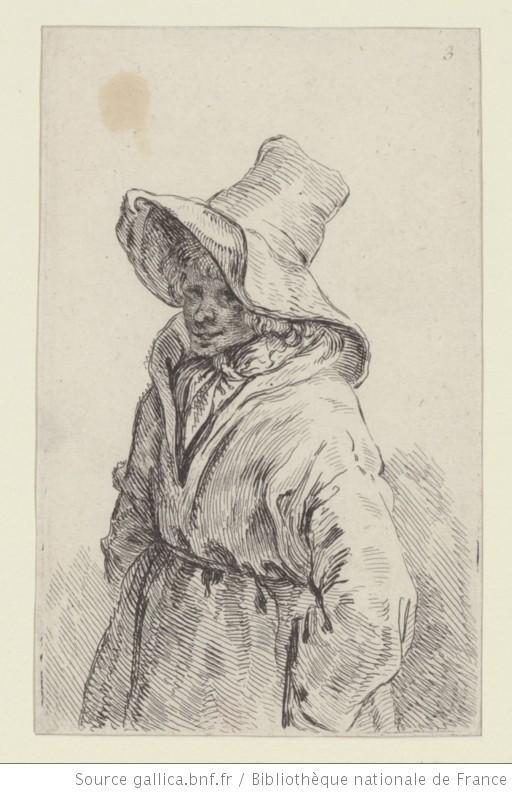 [Vieille femme coiffée d'un grand chapeau] : [estampe] / [F. Boucher] - 1 (1750-1770)