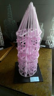 Contoh Nirmana 3D Media Sedotan ( Nirmana 3D Straw ) By : Ai Ela Rahmawati | Click the website to see more