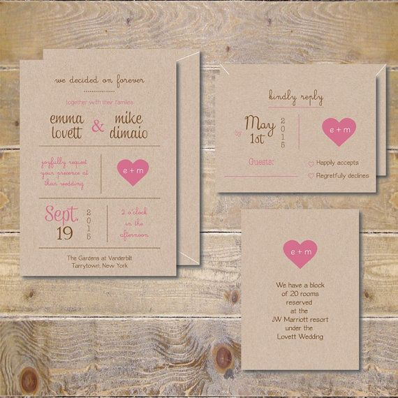 Heart Wedding Invitations Recycled Wedding Invitations by DeanPenn
