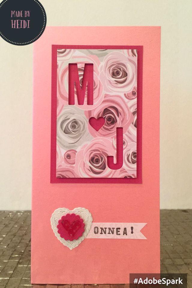 Kortti hääparille / A card for bride & groom DIY