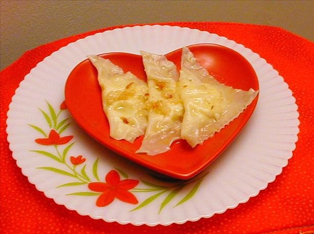 Pierogi using Wonton Wrappers (I would substitute American cheese for ...