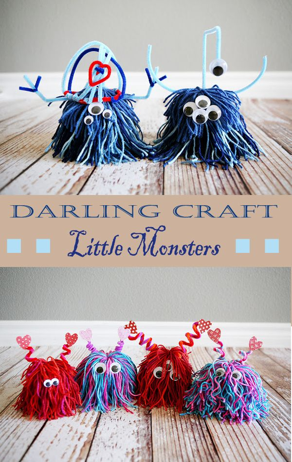 Darling Craft Little Monsters #crafts #christmas #christmascrafts
