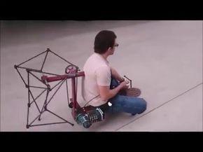 RamosElectroDron. Caballo de juguete, sistema mecánico de Theo Jansen, planos gratis, free plans - YouTube