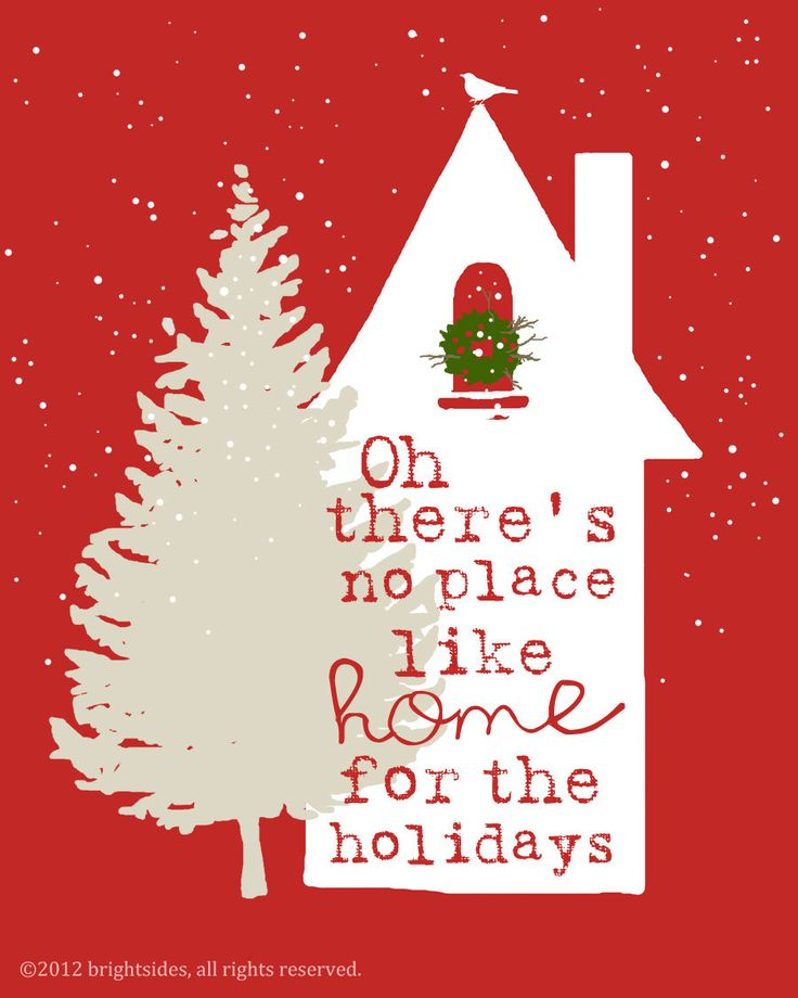 "Home for the Holidays - 8x10"" Christmas print. via Brightsidesdesigns on Etsy. Adorable!!"