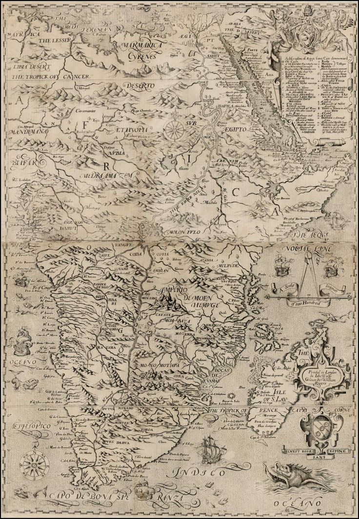 Map of Africa, 1598, John Wolfe.