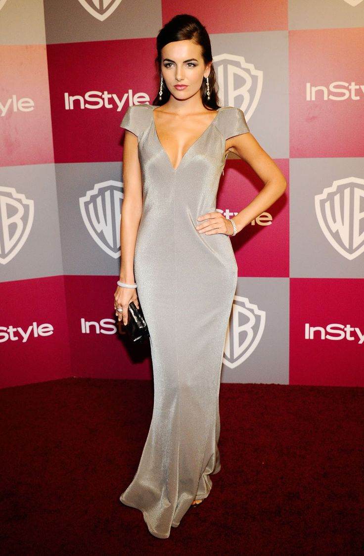 Camilla Belle cleavage in a sparkly sliver dress.