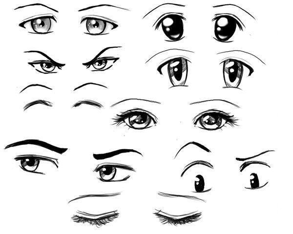 Favorit Les 25 meilleures idées de la catégorie Yeux dessin sur Pinterest  ZX95