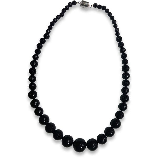 Sterling Silver Agate Graduated Bead Necklace