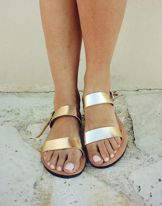 ♥ A pair of high quality,100% genuine Greek leather sandals ♥ You can wear them all day, they are very comfortable ♥ Perfect for everyday adventures, beach, bridal !!!  If you take half size, go UP to the nearest whole size.  Ladies shoe sizes  EU________35........36..........37...........38........39..........40...........41.......42 UK________2..........3-3.5.......4.............5..........6............6.5.........7.........8…