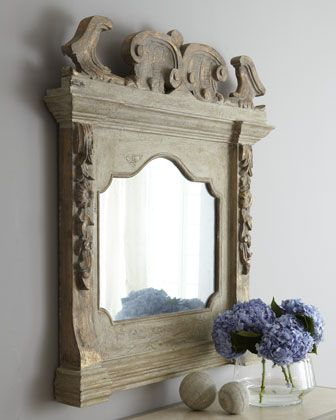 Italian-Style Mantel Mirror at Horchow.Beautiful Mirrors, Decor Ideas, Beautiful Interiors, Grey Wall, Italianstyl Mantels, Mantels Mirrors, H66Sw Italianstyl, Italian Styl Mantels, Mirrors Mirrors