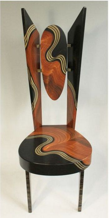Burl Swirl Wing Chair by Grant Noren