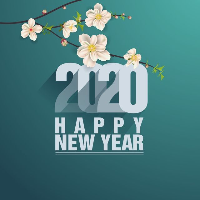 Merry And Happy New Year 2020 Year Of The Happy New Year Text Happy Chinese New Year Happy New Year Background
