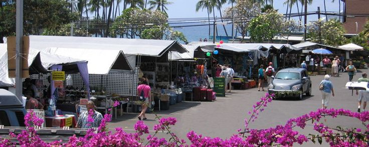 Kona Farmers Market...A must do in Kona!!!  Great priced Produce, crafts...etc!!!!  (try the Jack Fruit, and if in season the Dragon Fruit)....MMM!!!  Open wed-sun.  7am-4pm  **When my family and I vacationed here we went to this farmers market 4 out of the 7 days we were there. Love this place, and the vendors were awesome!!