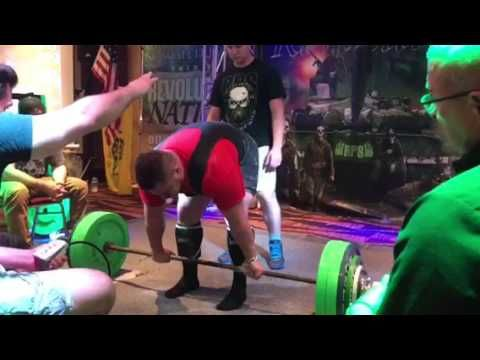 630 lbs competition deadlift with coach Gary Miller