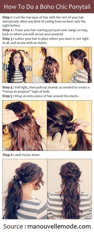 How To Do a Boho Chic Ponytail OR I can just do it when I have curly hair. #Artsandcrafts
