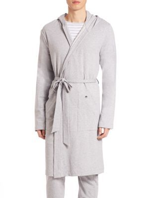 HANRO Luis French Terry Robe. #hanro #cloth #robe