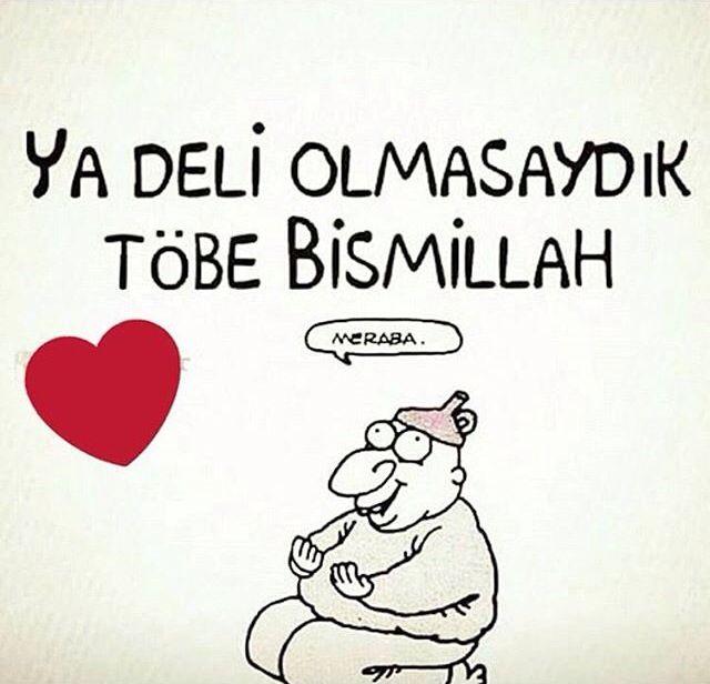 Ya deli olmasaydık tövbe bismillah.   #karikatür #mizah #matrak #komik #espri #şaka #gırgır #komiksözler #hunili