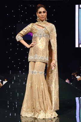 Gold net sharara | Satya Paul